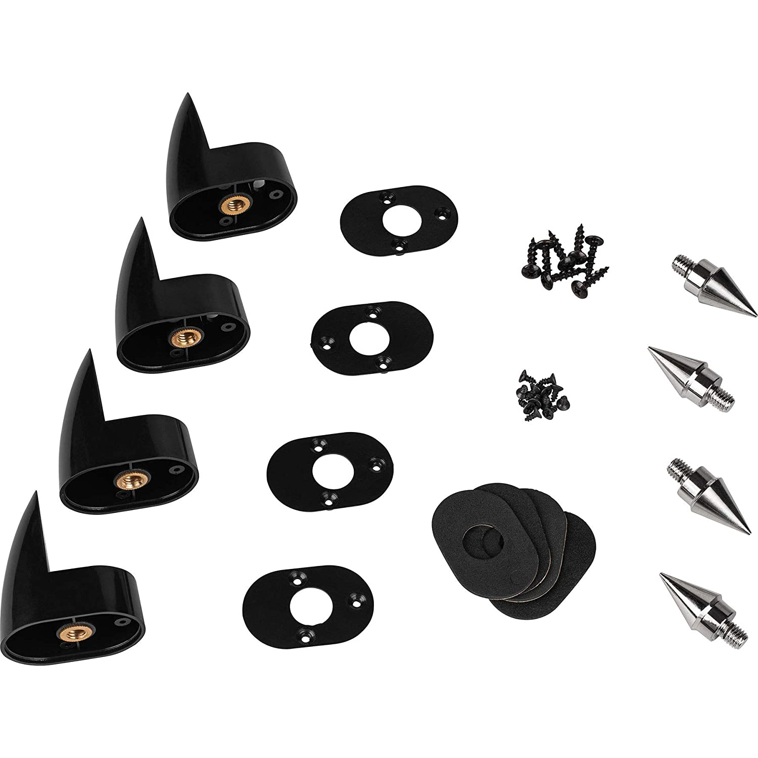 Dayton Audio OP-4 Outrigger Speaker Spike Set with ABS Base 4 Pcs