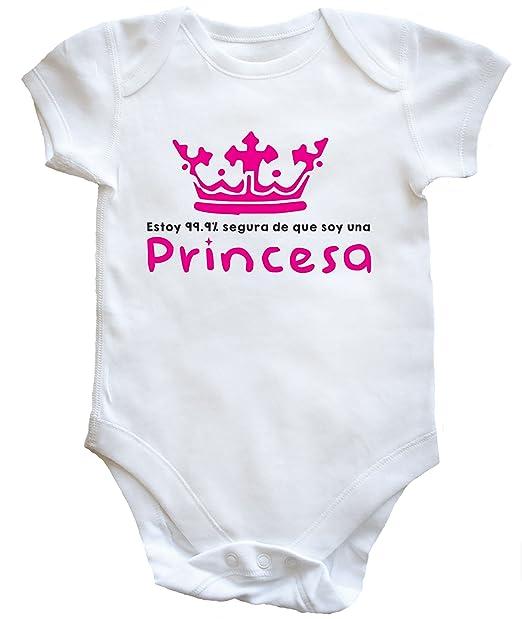 HippoWarehouse ESTOY 99.9% SEGURA DE QUE SOY UNA PRINCESA body bodys pijama niños niñas unisex