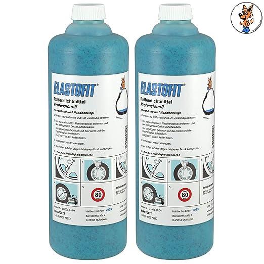 Sellador de neumáticos profesional Elastofit, 2 botellas de 1000 ...