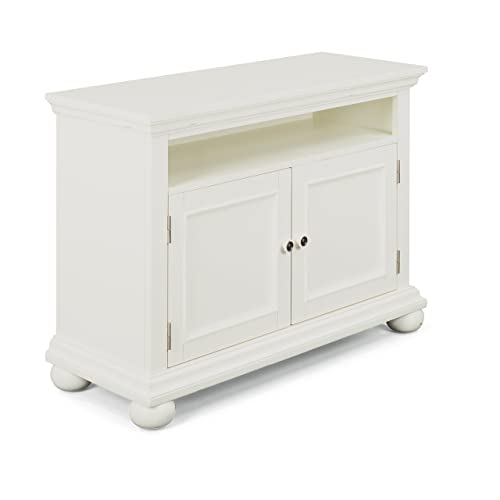 Dover White Entertainment Stand by Home Styles