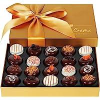 Hazel & Creme Gold Cookie Gift Box - Chocolate Box 20 - Gourmet Food Gift - Mothers Day, Birthdays, Anniversary…