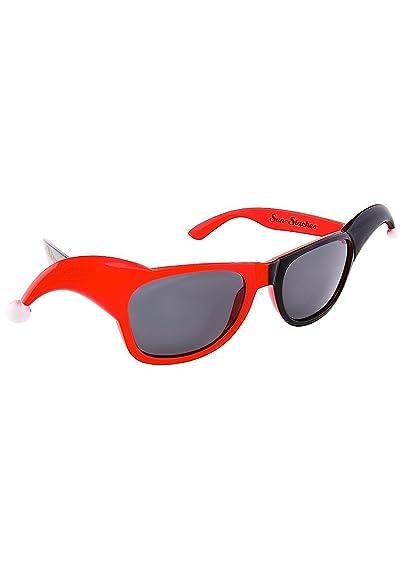 ff20294f0a7b Amazon.com  Sunstaches DC Comics Harley Quinn Dark Lens Sunglasses ...