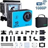 WIFI Underwater Camera HD 1080P 12mp Sports Action Cameras Waterproof Camera Diving 30M Water Camera With 2.0-Inch LCD for Motorcycle ,Bike,helmets,Kids,Drone, Hunting,And Water Sports