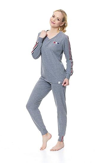 dn-nightwear Damen Pyjama Weitere Farben