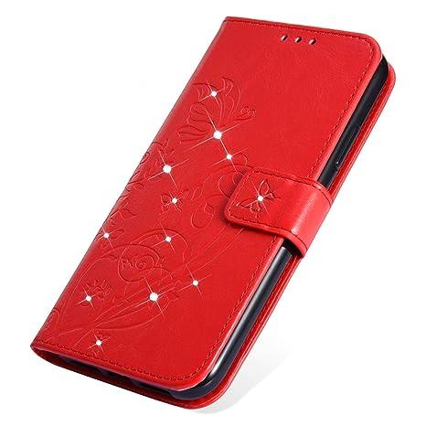 SainCat Cover per iPhone 6/6S Custodia Libro Portafoglio Pelle