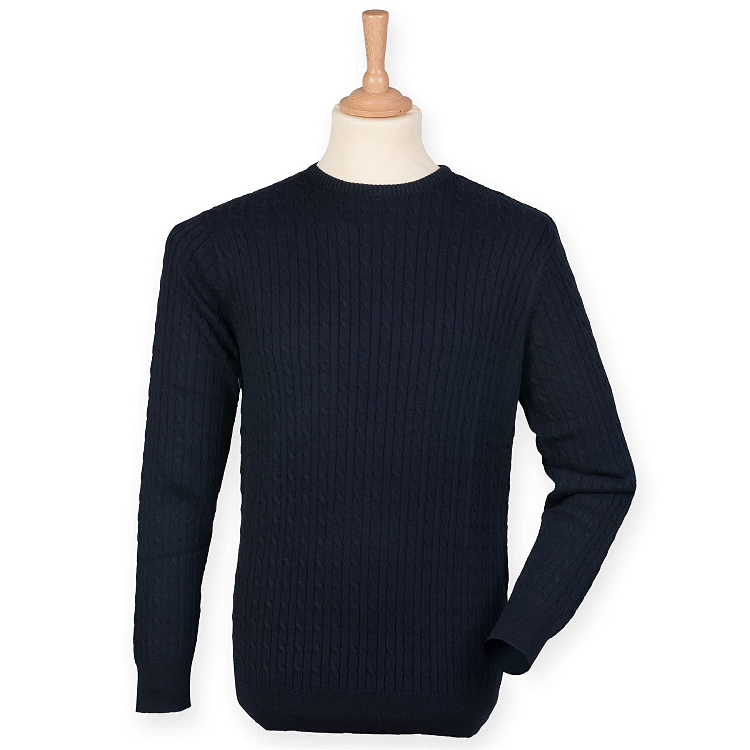 Front Row-Mens Jumpers-Tops-Cable crew neck jumper