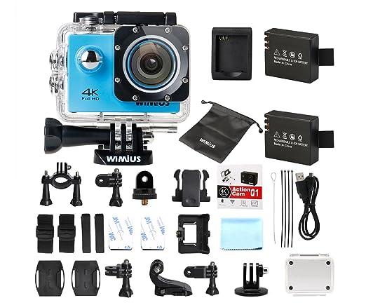 435 opinioni per Wimius Action Camera 4K WIFI WebCamera Full HD 1080P 16MP Impermeabile Sport