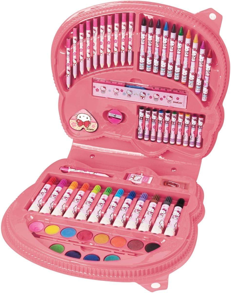 Maleta para colorir Hello Kitty rosto 65 ÍItens