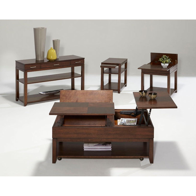 Amazon.com: Progressive Furniture Daytona Double Lift Top Cocktail, Regal  Walnut: Kitchen U0026 Dining