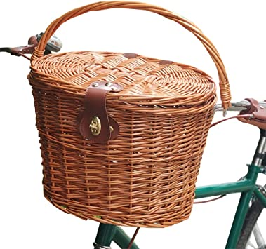 Bicycle Hook Basket Hanging Bike Basket Front Handlebar Bike Basket for Boys