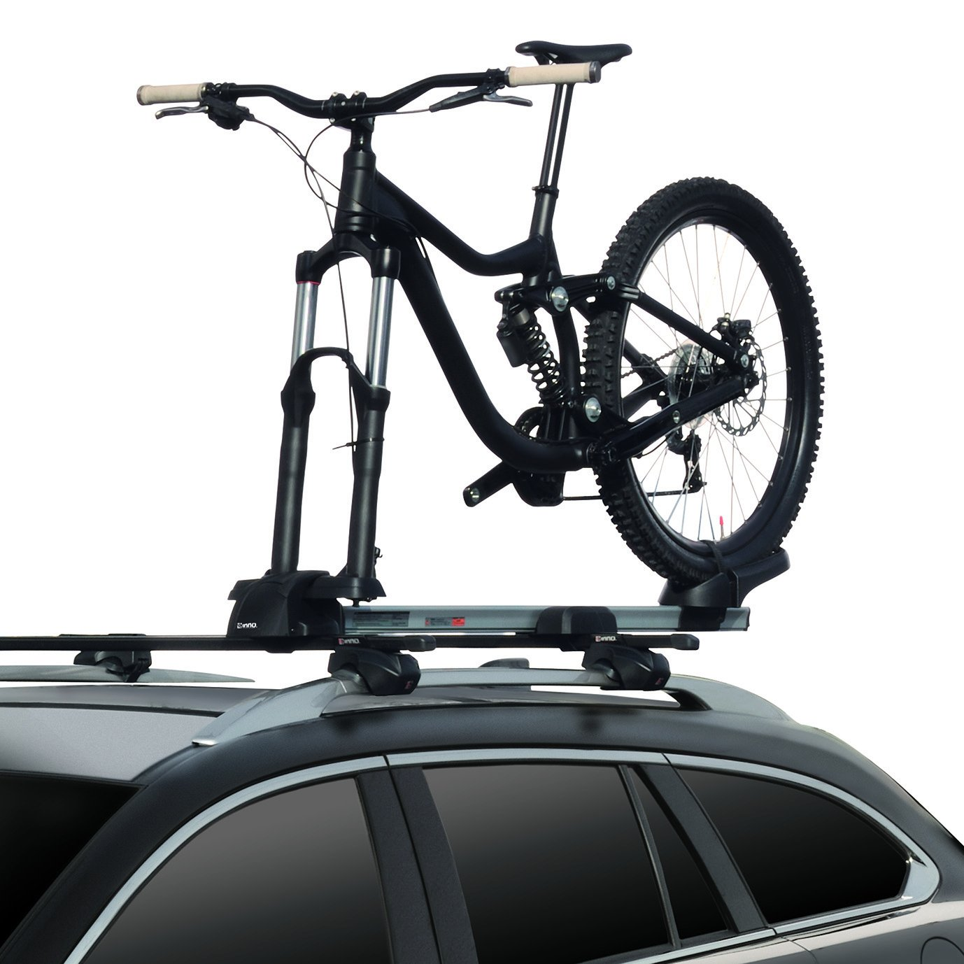 INNO INA392 Universal Mount (Fits Rounds, Square, Aero and Most Factory Bars) Multi-Fork Locking Bike Rack (1-Bike)