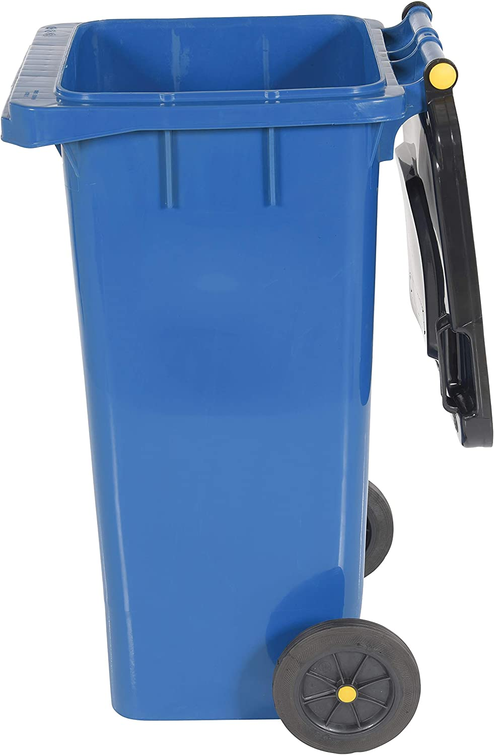 Polyethylene 32 gallon Capacity 22 Depth Blue 18-1//2 Width 37-1//2 Height Vestil TH-32-BLU Trash Can