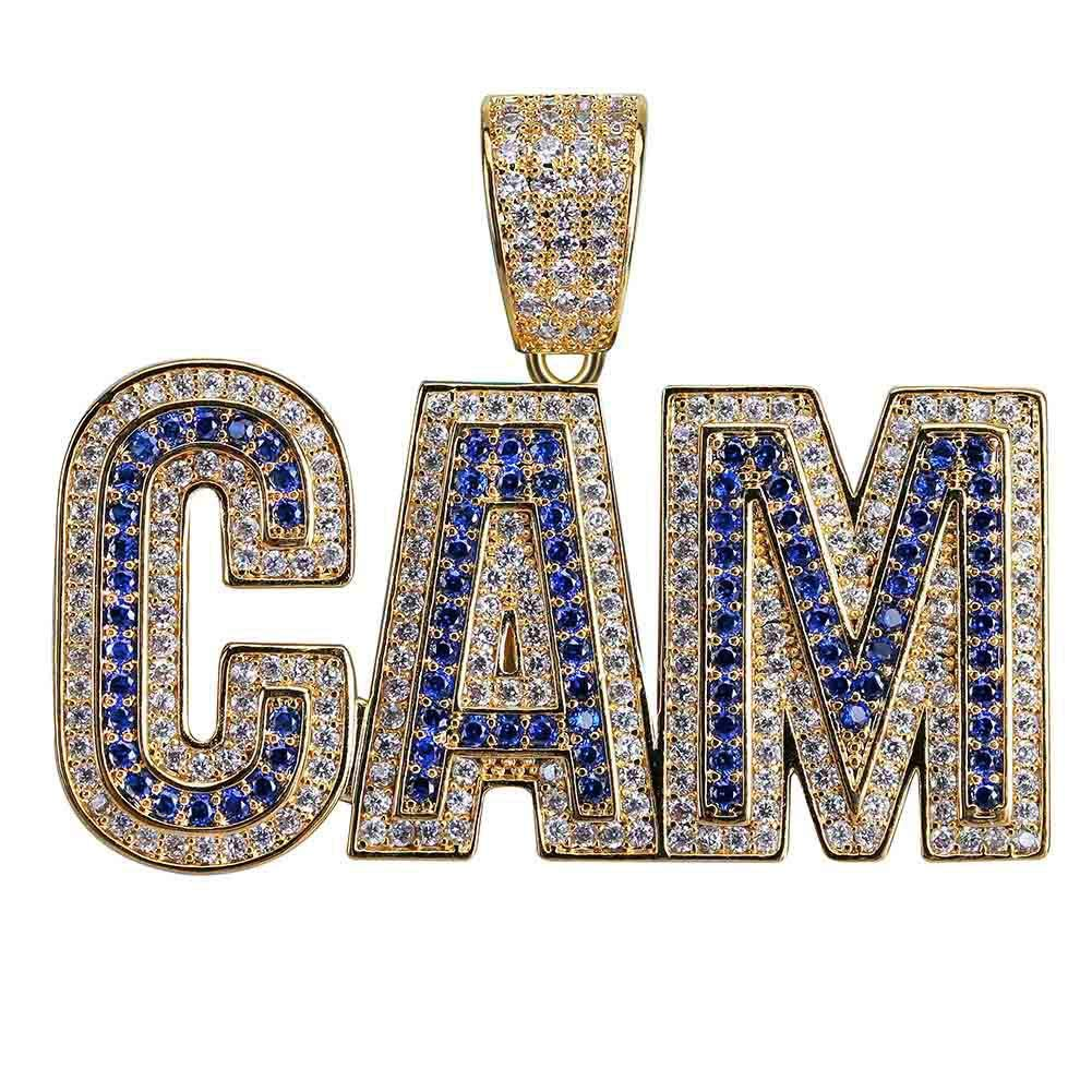 e1214ef7d LC8 Jewelry Men Bubble Letter CAM Pendant Hip Hop Iced Out Bling Micro-Pave  Diamond