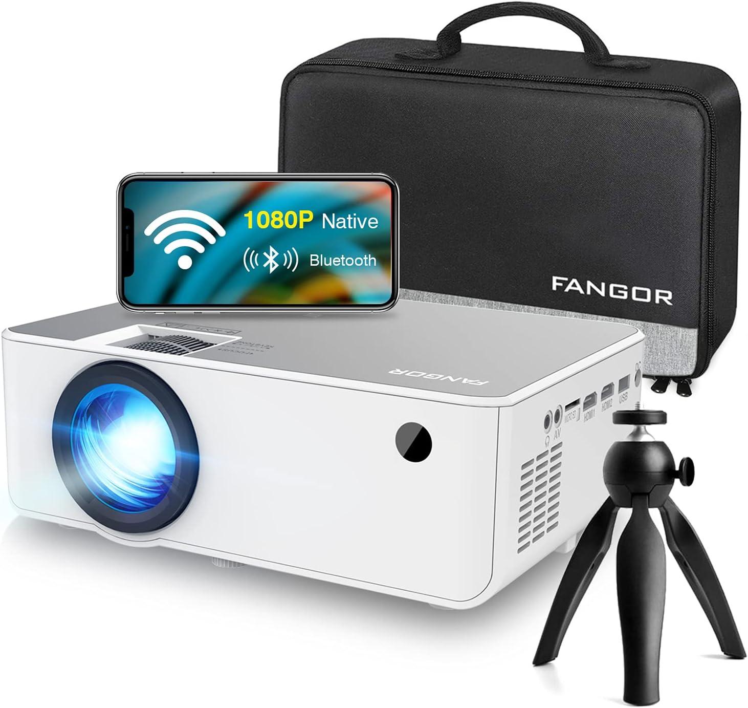 "FANGOR 230"" HD 1080P WiFi Bluetooth Projector $132.98 Coupon"