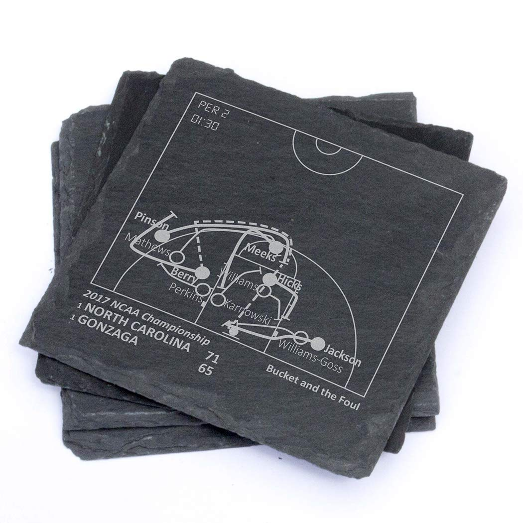 Greatest UNC Plays - Slate Coasters (Set of 4)