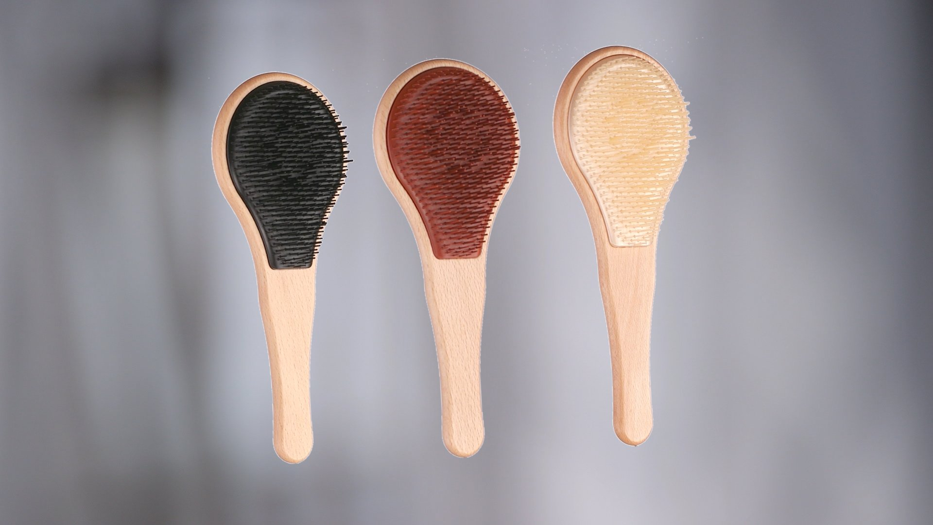 Michel Mercier Detangling Brush Wood Crafted Normal Hair (Fine Hair) by Michel Mercier (Image #6)