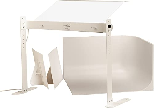 MyStudio MS20 Photo Studio Lightbox Kit w/ 5000K Lighting for Professional Tabletop Product Photography