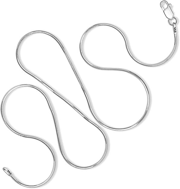 925 Silver St - 0.75-1.50 mm 40,45,50,55,60,65,70,75 cm- ,65,70,75 cm data-mtsrclang=en-US href=# onclick=return false; show original title Details about  /Snake Chain
