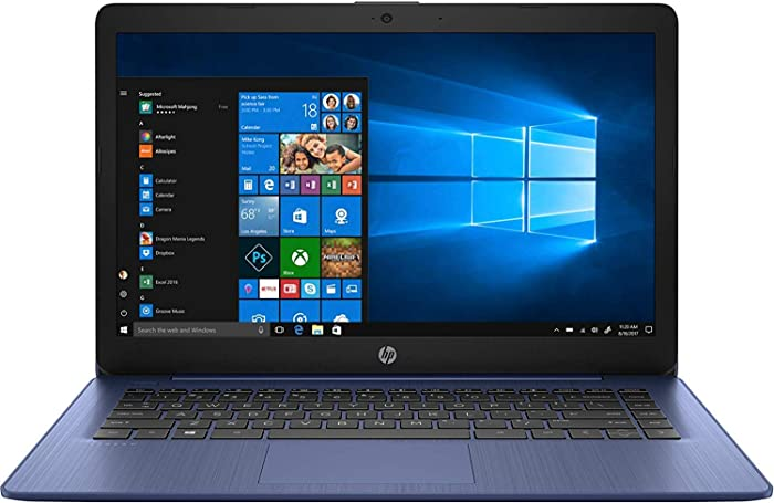 HP Stream 14inch Touchscreen Laptop, AMD A4-9120 Processor, 4GB DDR4 RAM, 64GB SSD, AMD Radeon R3 Graphics, WiFi, Bluetooth, HDMI, Win10 (Renewed) (Royal Blue/64GB/Touch)