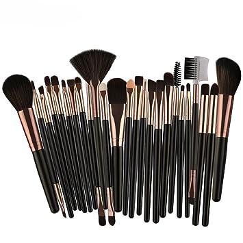 ded8543e7483 Makeup Brush Set Wakeu 25 Pieces Professional Face Eye Shadow Eyeliner  Foundation Blush Lip...