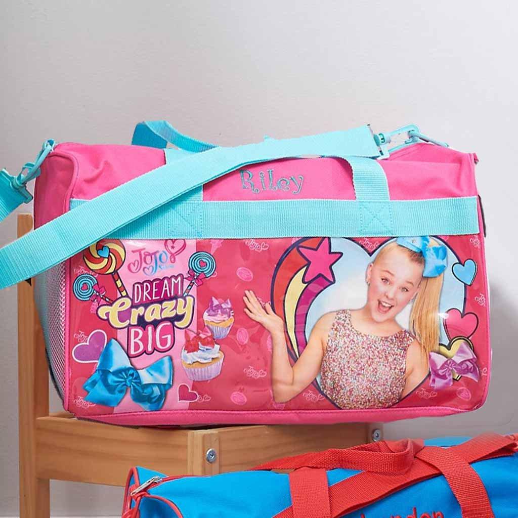 Personalized Licensed Kids Travel Duffel Bag - 18'' (JoJo Siwa) by DIBSIES Personalization Station (Image #2)