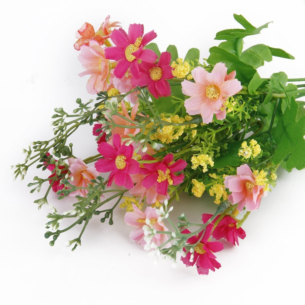 Amazon Cjeslna 1 Bunch Cineraria Artificial Flower Bouquet Home