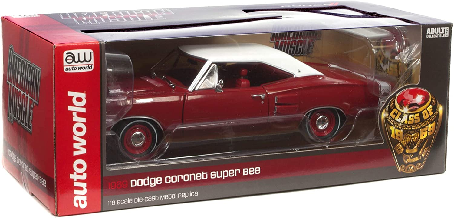 Diecast Model Cars 1//18 Scale Die Cast Replica American Muscle 1969 Dodge Super Bee Hardtop