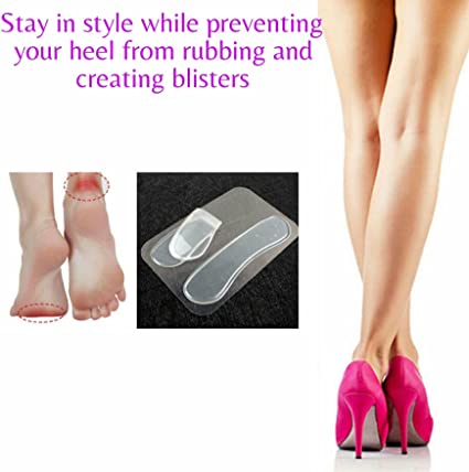 1 Pair Silicone Gel Heel Grip Back Liner Shoe Insole Pad Foot Care Protector  ZF
