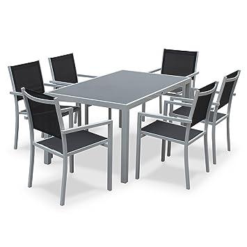 Alice\'s Garden - Conjunto de mesa y sillas de jardín de aluminio y ...