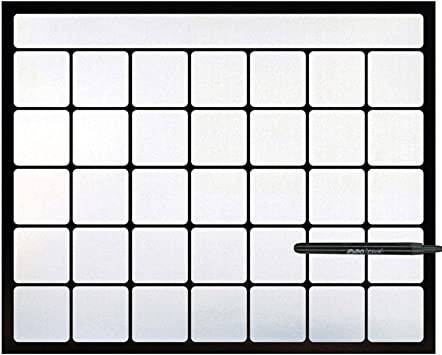 Amazon.com : Cohas Magnetic Backed 1 Month Calendar Includes Black