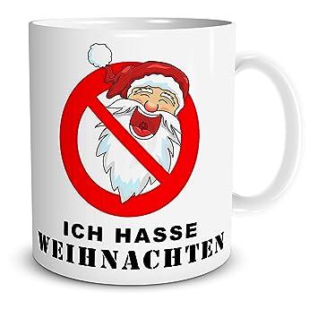 Triosk Tasse Mit Weihnachtsmotiv Verbotsschild Und Lustiger Spruch