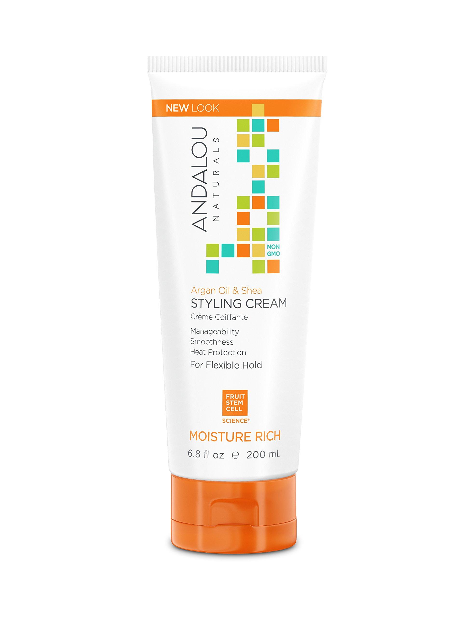 Andalou Naturals Argan Oil & Shea Styling Cream, 6.8 oz