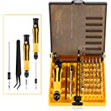 OUTAD 45 in 1 Tool Kit, Mini Portable Precision Screwdriver Bits Hand Tools Kit Set with Tweezers, Extension Shaft for Precise Repair Maintenance