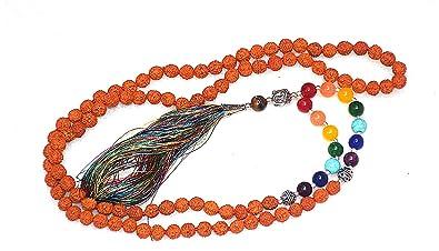 Amazon.com: Exclusive Yoga Seven Chakra mala/Yoga Chakra ...
