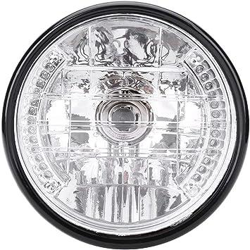 Universal Motorrad Frontscheinwerfer Retro Lampe Gelb Scheinwerfer 5,75 Zoll
