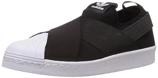 adidas superstar scivolare sulle donne scarpe strada nera