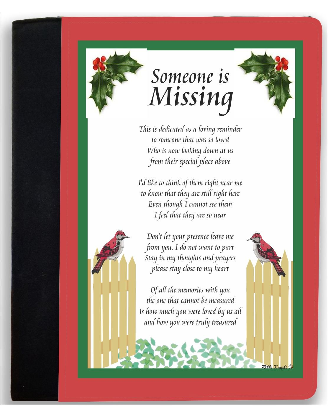 Amazon.com : Rikki Knight Someone is Missing This Christmas - Dad ...