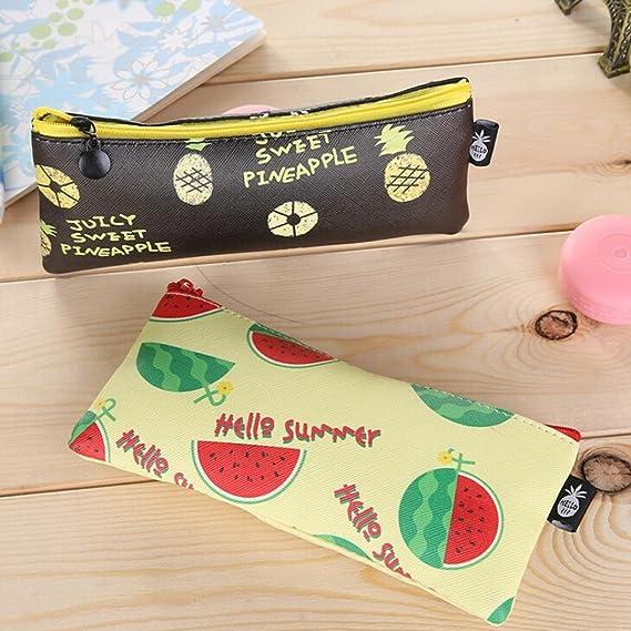 YJYda - Estuche impermeable de poliuretano con diseño de frutas para estudiantes, niñas, bolsa de papelería: Amazon.es: Oficina y papelería