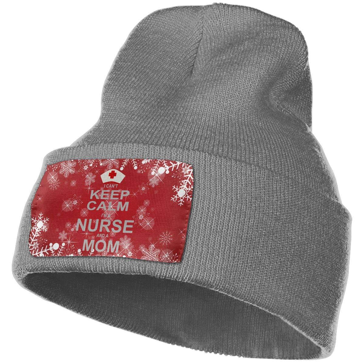 Keep Calm Im A Nurse and A Mom Men Women Knit Hats Stretchy /& Soft Skull Cap Beanie