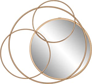 Gold Metal Layered Circle wall accent Mirror