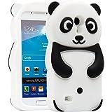 Semoss 3D Panda Étui Coque Housse En Silicone Cover avec Protecteur d'écran pour Samsung Galaxy S4 mini i9190 i9195 (Noir)