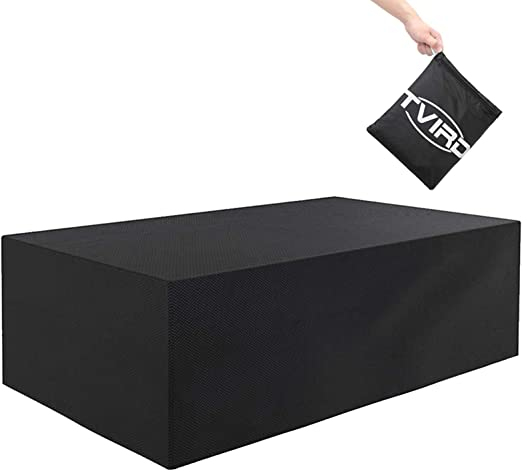 Oferta amazon: Tvird Funda para Muebles de Jardín,Copertura Impermeable para Mesas Rectangular,Cubierta de Exterior Funda Protectora Muebles Mesas Sillas Sofás Exterior 600D Oxford (242 x 162 x 100CM) -Negro