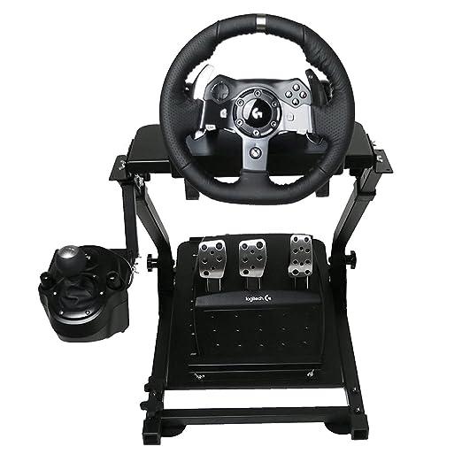 Autovictoria Soporte de Volante de Carrera para Logitech G25 G27 G29 y G920 Soporte Plegable de Volante no Incluye Volante Pedales y Palanca de Cambio ...