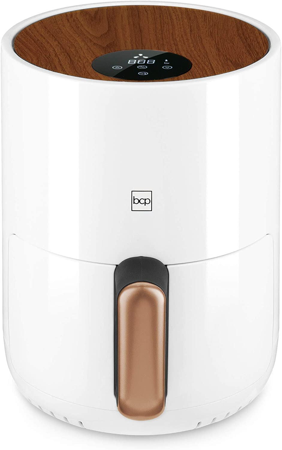 Best Choice Products 1.6qt 900W 120V Compact Air Fryer Kitchen Appliance w Digital LCD Screen, Recipes, Overheat Protection, Adjustable Temperature, Oil Filter Rack, White