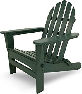 "product image for POLYWOOD AD5030GR Classic Folding Adirondack Chair, 38.5"" x 31.25"" x 33.5"", Green"