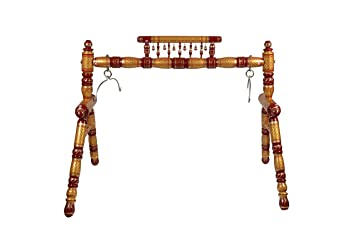 Amazon.com : Ghodiyu - Traditional Indian Wooden Cradle, Desi Cradle on