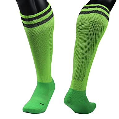 3fada57be Amazon.com  Meso Unisex Youth Adult 1 Pair Knee High Sports Socks Striped 3  Sizes  Clothing