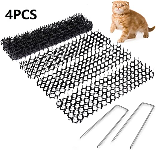 WZ 4PCS Scat Cat Mat con Púas, Humane Pet Disuasión Mat De Perros, Gatos Y Más,