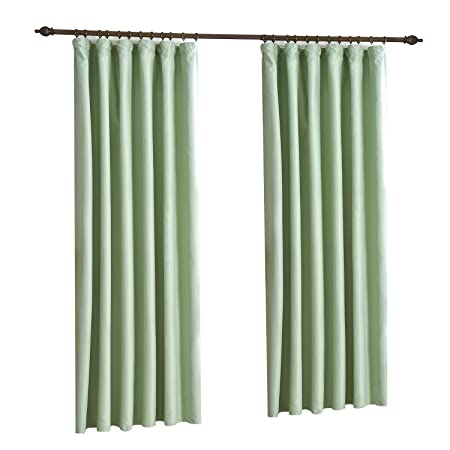 Luxury Thermal Supersoft Blackout Curtains Mint Green 90quot
