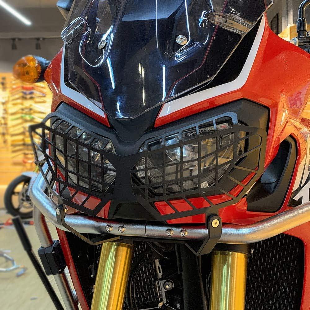 Lopbinte Motorrad Scheinwerfergitter Schutzh/üLle f/ür CRF1000L CRF 1000L Africa Twin 2016 2017